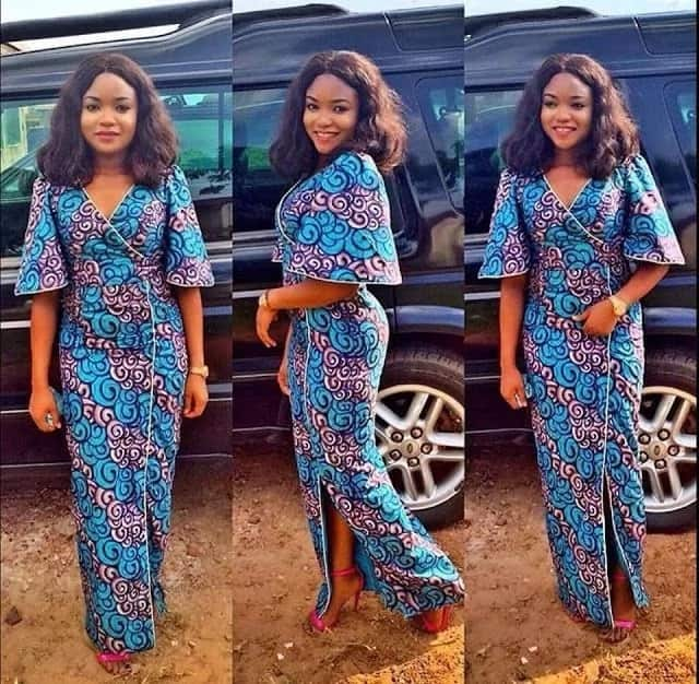 Ankara straight gowns with cut