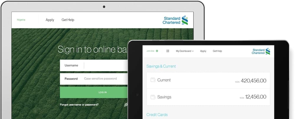 Standard Chartered Bank Nigeria online account opening
