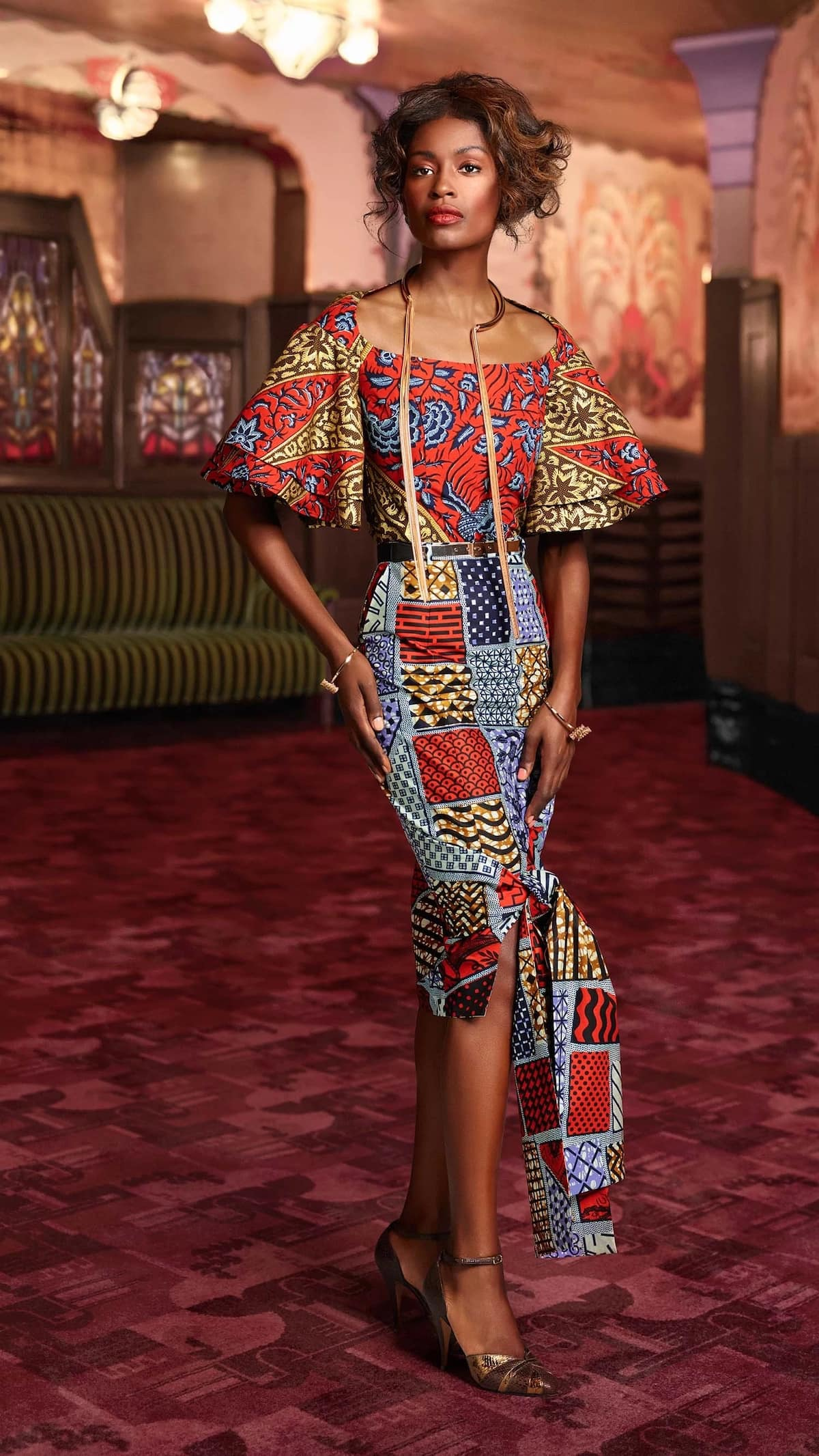 Best ideas of Ankara tops with dramatic sleeves