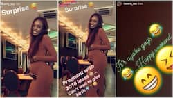 Former BBA housemate Beverly Osu deceives fans with pregnancy, carries fake baby bump