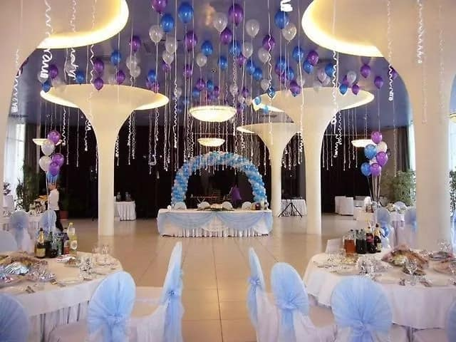 Balloons under the ceiling
