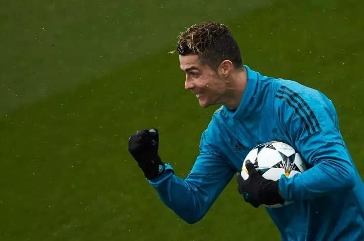 Cristiano Ronaldo returns to training ahead of Bayern Munich tie
