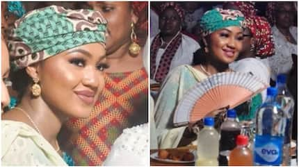 President's daughter Zahra Buhari is pregnant, seen hiding visible baby bump (photo, video)