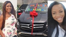 Linda Ikeji buys her younger sister a Mercedes SUV worth N30million