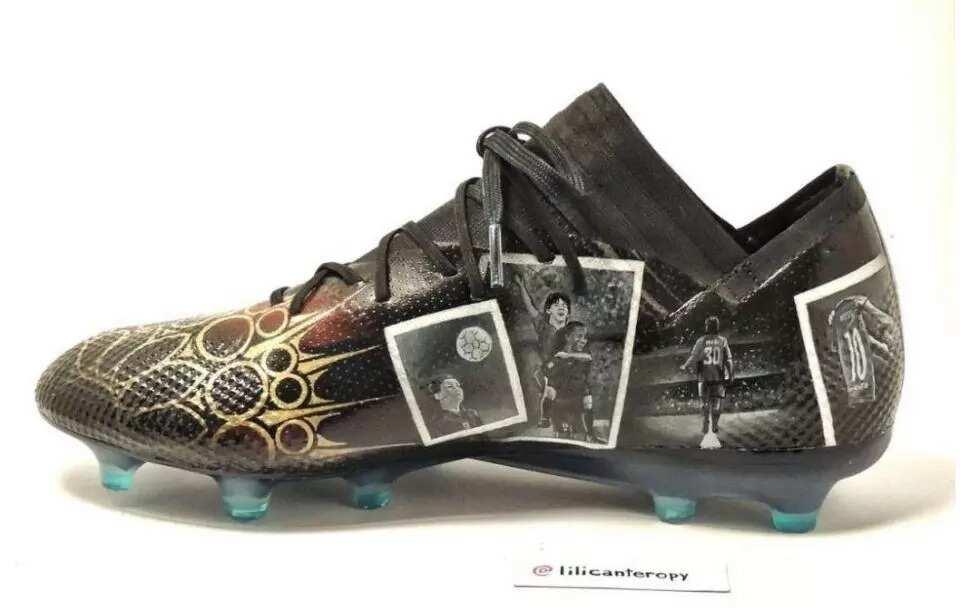 cf66d3dcf5b2 Messi unveils incredible new boots that tells his life story ▷ Legit.ng