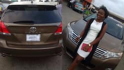Amazing! Nigerian man surprises his wife with brand new Toyota Venza car (photos)