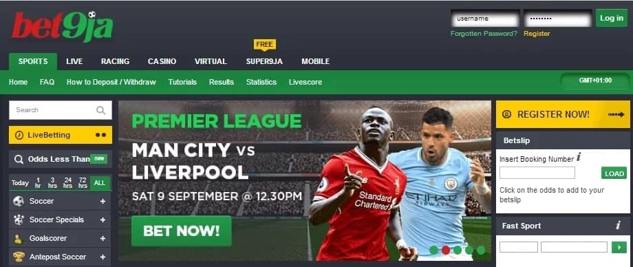 How to register and play Bet9ja online