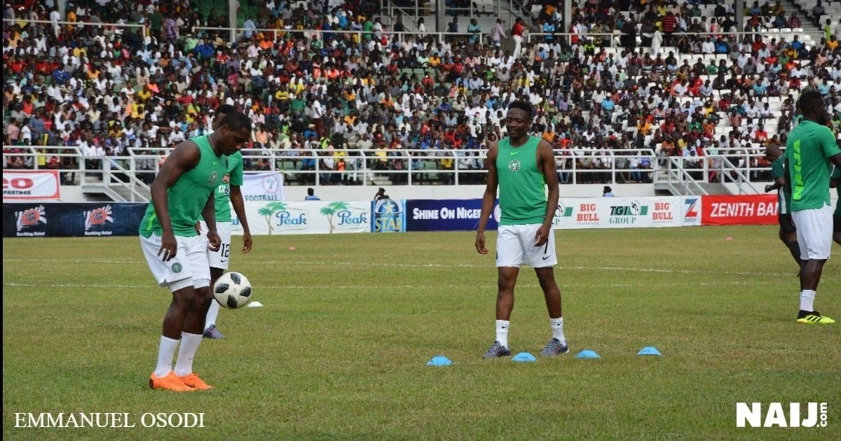 Nigeria, Congo warm up for the friendly game in Port Harcourt