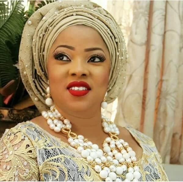 Aso oke with beads
