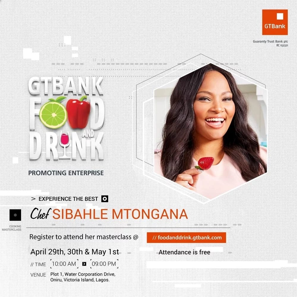 Sibahle Mtongana, host of Siba's Table is coming to the GTBank Food and Drink Fair