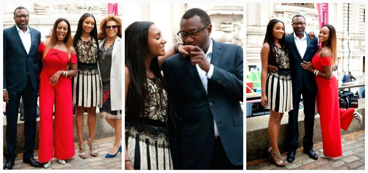 Femi Otedola and his family at the public event
