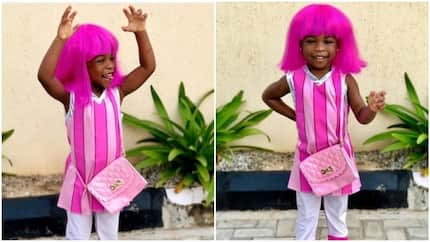 Davido's daughter Imade steals hearts as she poses in Halloween's costume (photos)