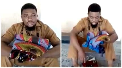 24-year-old graduate caught while allegedly attempting to use his parents for ritual (video)