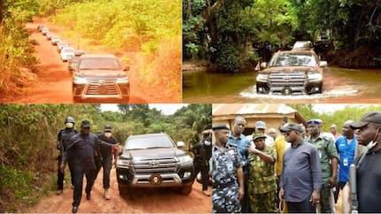 The touching moment Governor Bello drove through stream, valleys to visit victims of herdsmen attack in Kogi (photos)