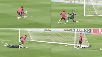 Gareth Bale scores stunning solo goal on his return to Real Madrid training