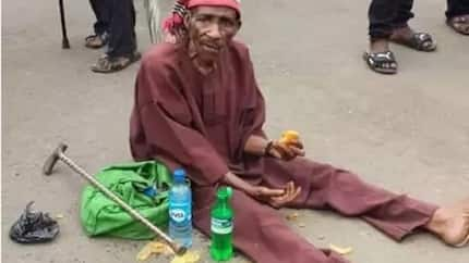 Heartbreaking! See what happened to an old man during a protest in Imo (pics)