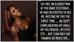 I love you so much - Nollywood actress recounts her encounter with an elderly man at the bank