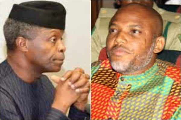 Open letter to Acting President Yemi Osinbajo; Time to release Nnamdi Kanu