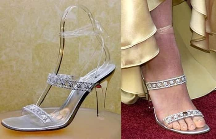 Stuart Weitzman Cinderella Slippers silver color - most expensive shoes in the world