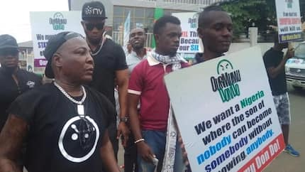 Breaking: Our Mumu Don Do protesters barricade at NNPC headquarters over fuel scarcity