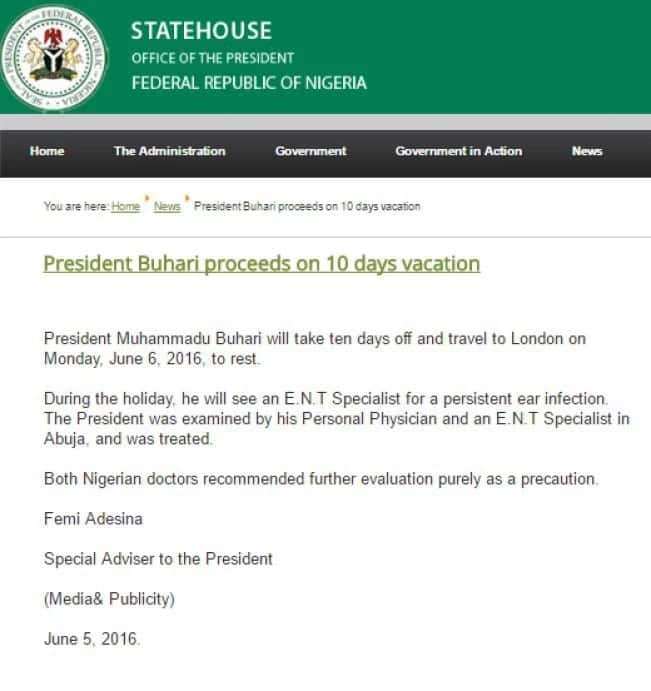 Check out the 3 times President Muhammadu Buhari went on vacation
