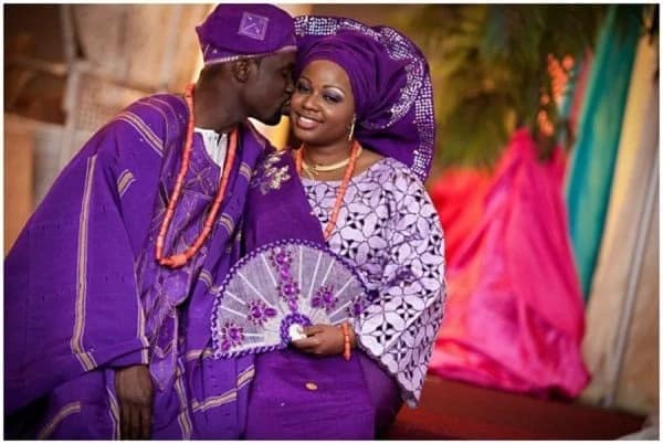 matching Aso Oke for bride and groom