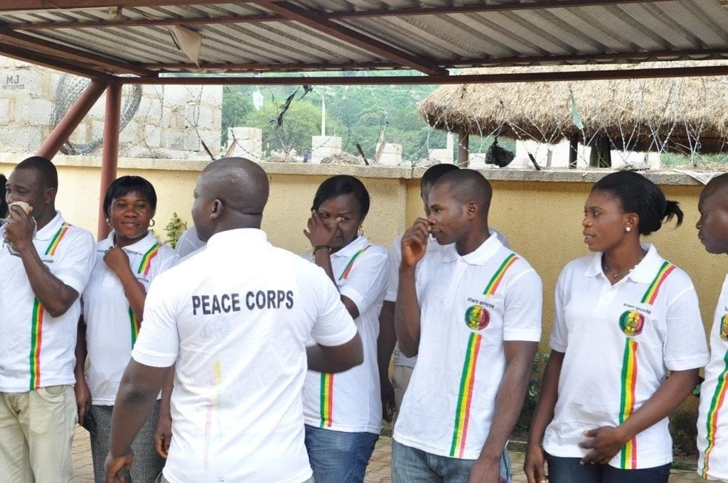 The members of Nigerian Peace Corps