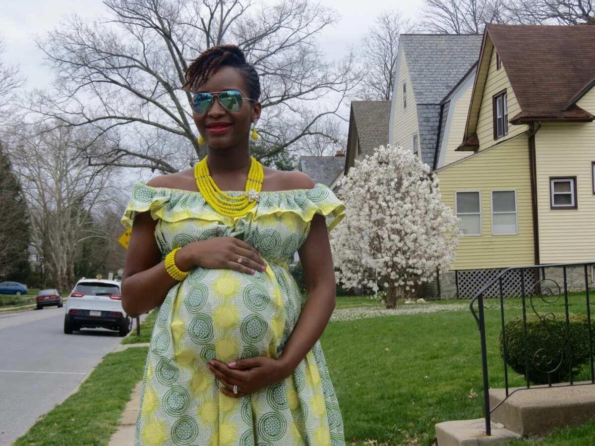 Ankara dress for pregnant ladies -4