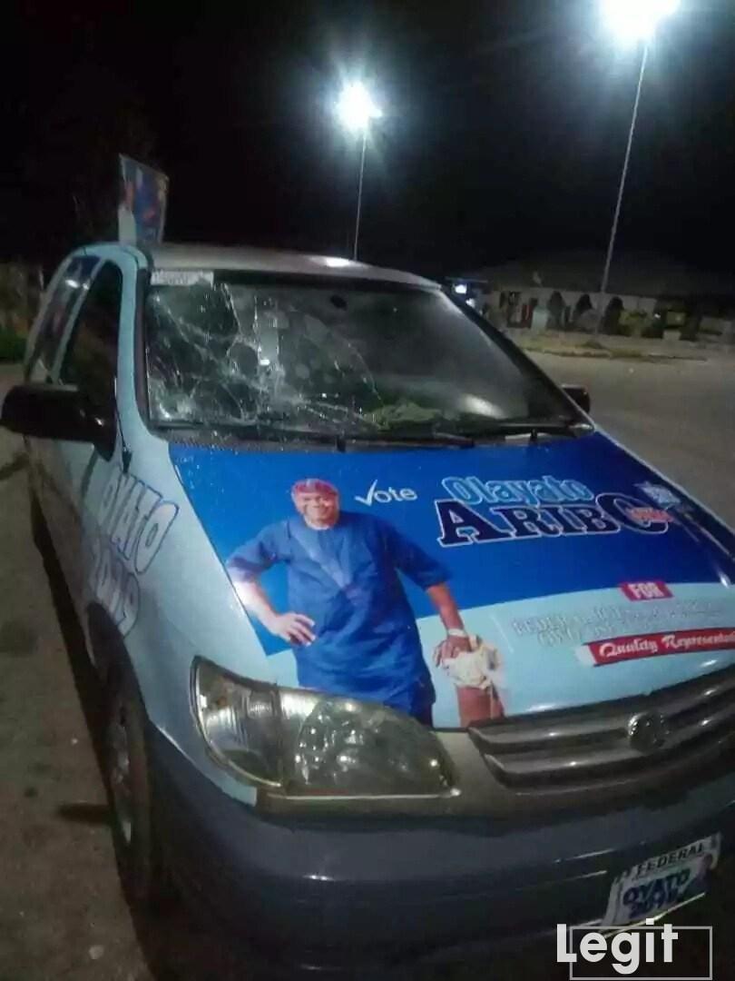 Suspected thugs attack Ondo APC House of Reps aspirant, set his campaign vehicle ablaze