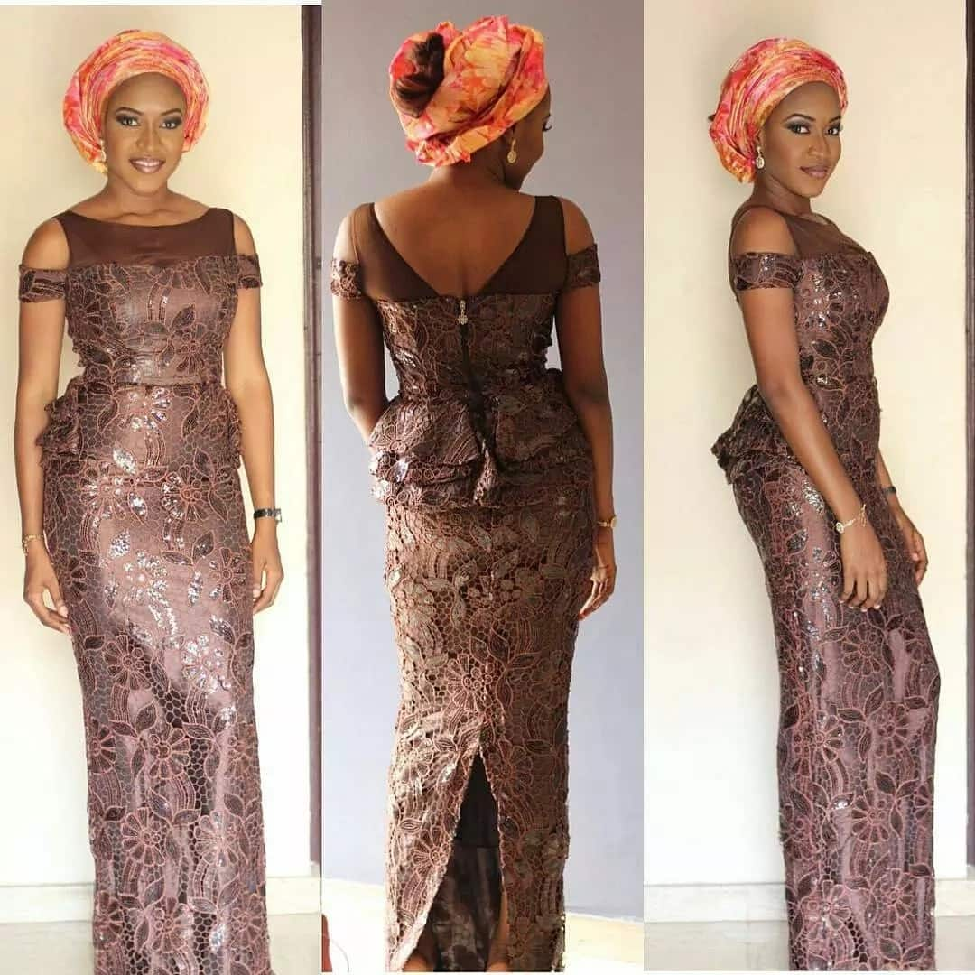 Aso Ebi styles with straight skirt