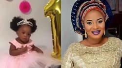 Late actress Moji Olaiya's baby celebrates first birthday with none of her mother's colleagues in attendance