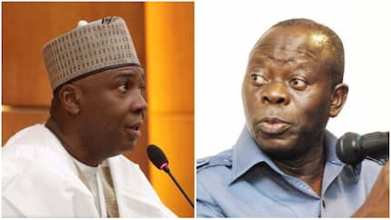 Nigerians are watching how Buhari will handle the bribery allegations against Oshiomhole - Saraki speaks