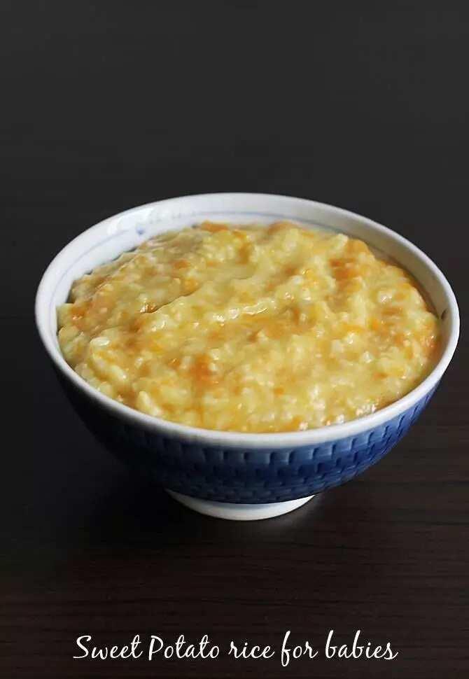 Sweet pottato rice porridge