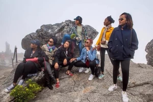 Banky W, Adesua and BAAD team go sightseeing in Cape Town ahead of their white wedding