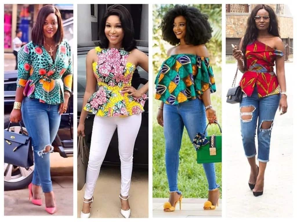Latest Ankara style in town 2017 - Bright tops