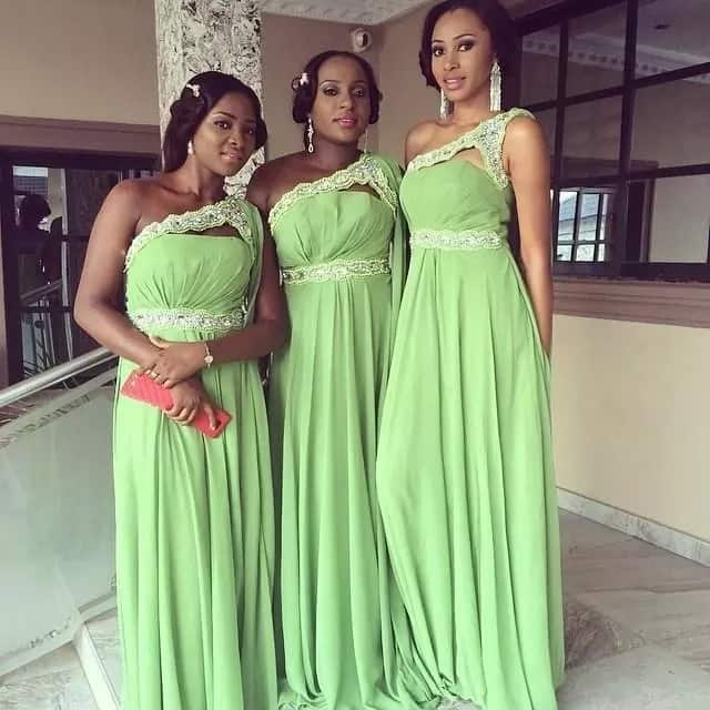 Nigerian chiffon gowns styles made of dense textile
