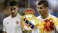 Arsenal na zawarcin James da Morata, Madrid kuma Sanchez