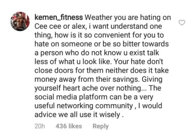 Kemen reacts as trolls accuse Alex Of copying Cee-C (Photos)