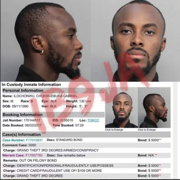 BREAKING: Nigerian singer, Dammy Krane arrested for credit card theft and fraud in US (photos)
