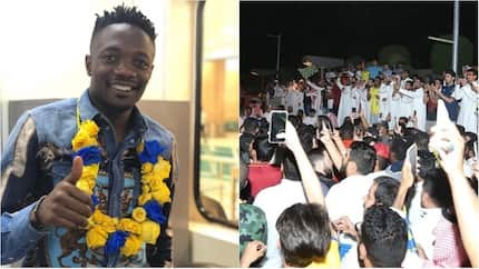 Massive jubilation as Super Eagles star receives rousing welcome from supporters of his new club at the airport