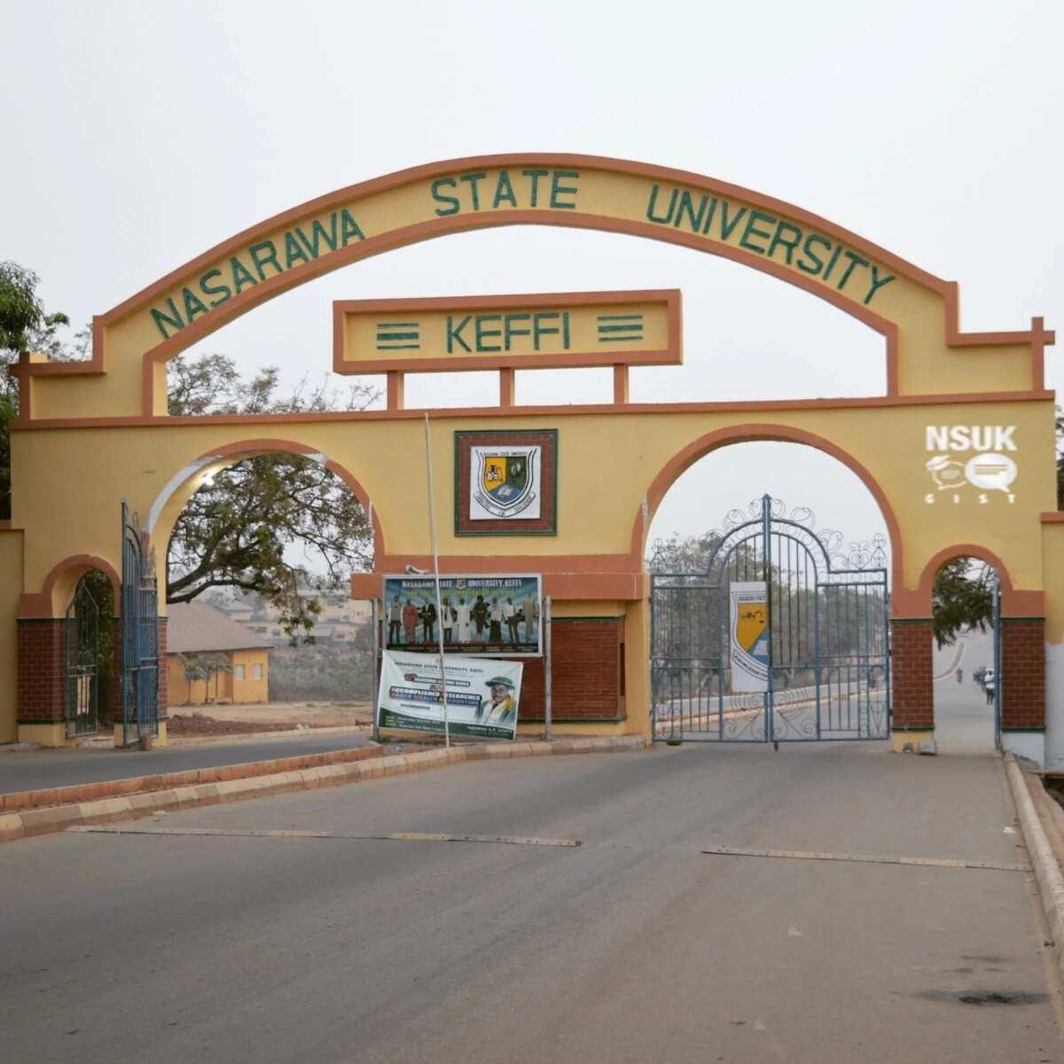 The entrance to Nasarawa State University, Keffi
