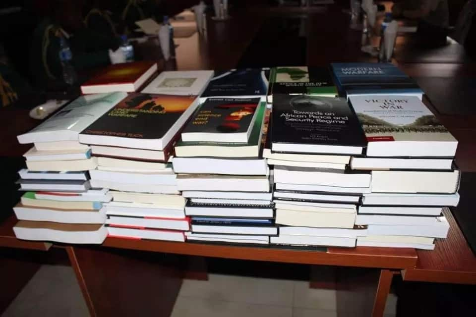 Some of the books presented by the UK army. Photo source: SK Usman