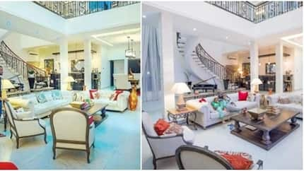 Peter Okoye glad to be back home, shows off beautiful living room (photos)