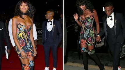 Perfect couple! Wizkid and Naomi Campbell spotted at the GQ men of the year awards