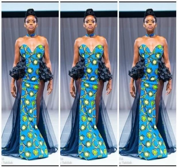 Latest Ankara long gown styles for brave ladies