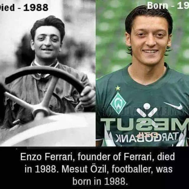 Reincarnation Between Mesut Ozil And Enzo Ferrari Legitng