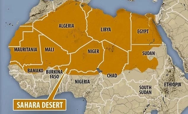 Which desert's edge is found at Nigeria's northernmost borderland? The Sahara desert is getting closer.