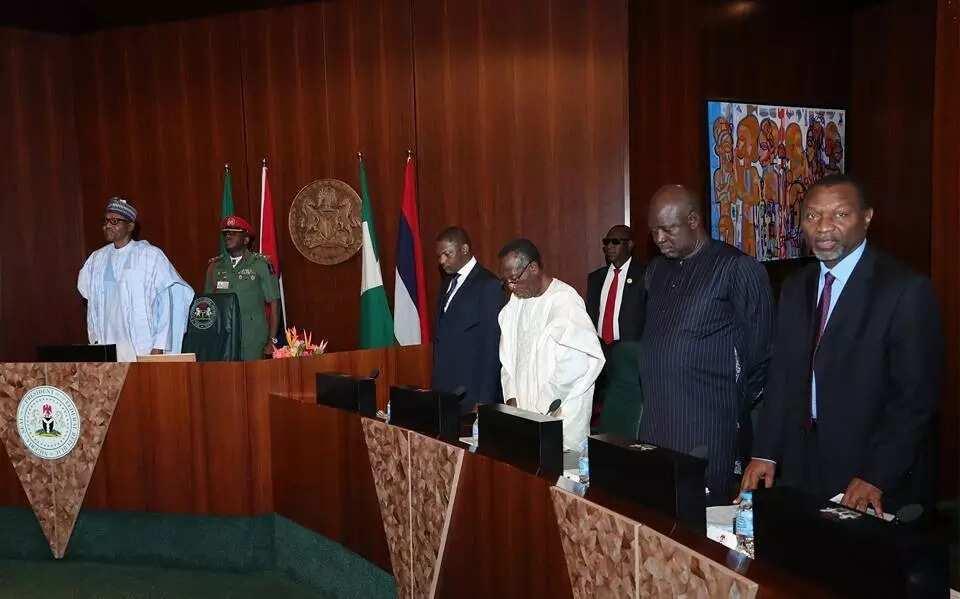 FEC meeting. Photo source: Femi Adesina