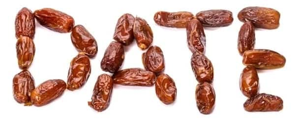 Dates form up a word