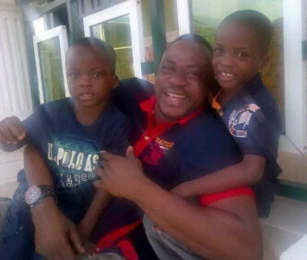 Odunlade Adekola's with his older sons
